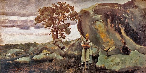 Corot-Les rochers de FontainebleauP-027.jpg