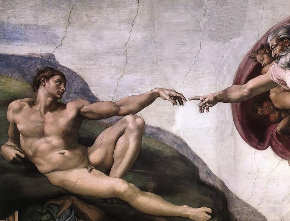 MICHEL-ANGE - la creation d'Adam (detail) (1508) copie.jpg
